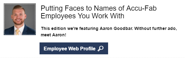 Call to Action - Aaron Web Profile
