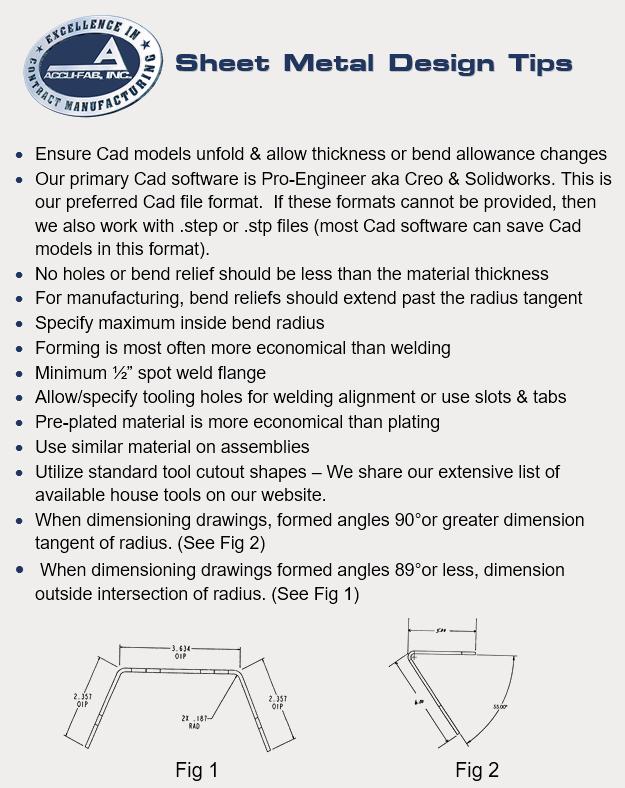 Sheet Metal Design Tips